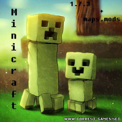 Скачать Minecraft 1.7.3+mods+maps (2011/Pc/Eng)